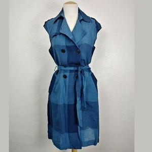 Eva Franco Anthro Patchwork Shirt Dress/Vest